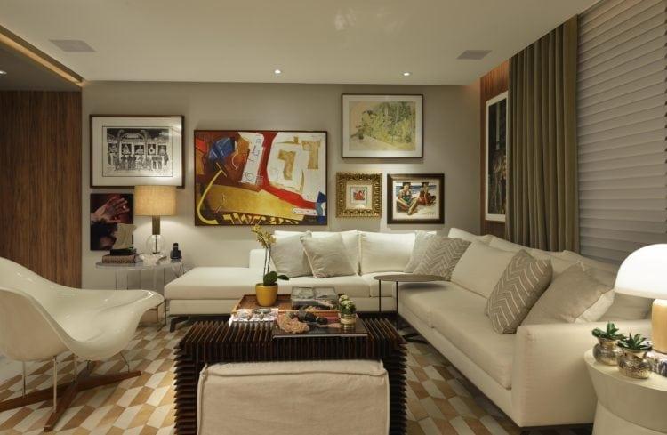 Sala do Apartamento no Le Parc Salvador, assinado por Manarelli Guimaraes e fotos de Marcelo Negromonte