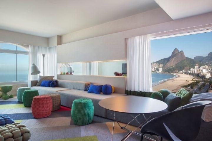 suíte do Sofitel RJ Ipanema, assinada pela Cité Arquitetura para torcer na copa do mundo 2018