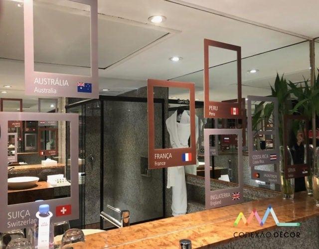 banheiro do hotel sofitel ipanema assinado por Cité Arquitetura.