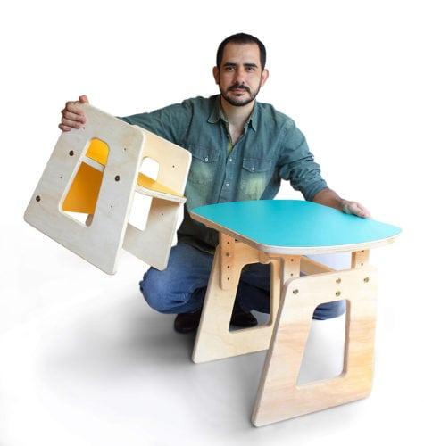 Novos Talentos 2018 - Designer Edgar Carvalho e sua coleção de móveis infantis Grow, que acompanham o crescimento das crianças: