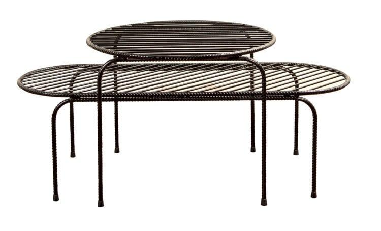 mesa Arreda feita com vergalhão de ferro assinada por Francisco Oliveira- Novos Talentos 2018