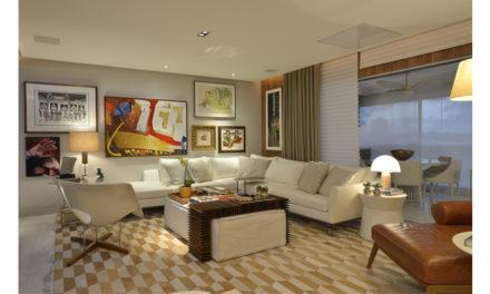 Integração de ambientes marca apartamento em Salvador, assinado por Manarelli Guimarães