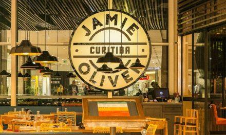 Os detalhes arquitetônicos do Jamie´s Italian Curitiba