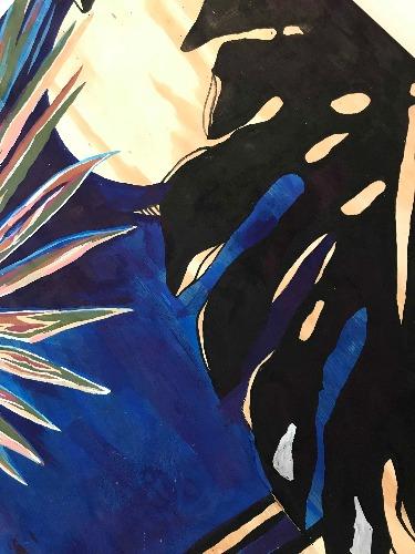 LZ Arte_gabriel_oliveira obra em tons de azul e preto