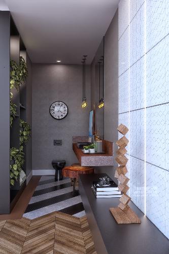 Lavabo - Morar Mais - por Rachel França Arquitetura e Gizelle Leite Arquitetura_projeto em 3D por Jessé Martins Freitas