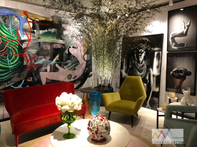 Design Week SP 2018. Colorido harmonioso no ambiente de Murilo Lomas , na mostra Modernos e Eternos 2018