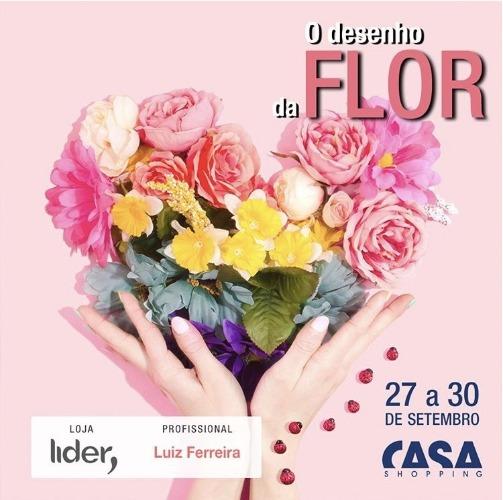 Convite exposição O desenho da flor , no Casa Shopping