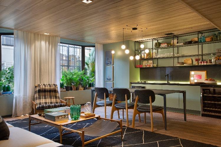 Sala de jantar Living Sage assinado pela arquiteta Bianca da Hora na Casa Cor Rio 2018