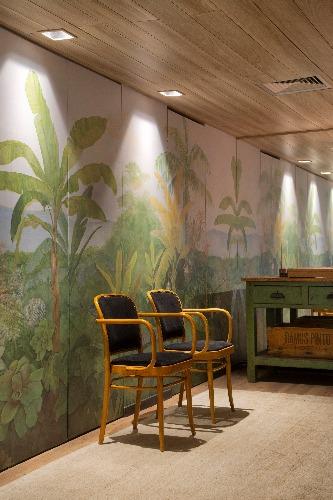 hall de entrada do Living Sage assinado pela arquiteta Bianca da Hora na Casa Cor Rio 2018