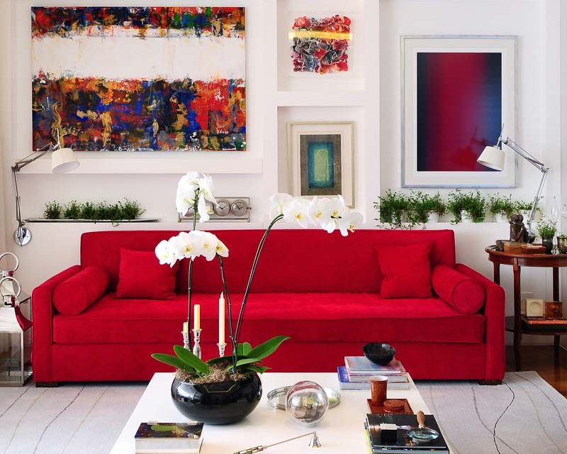 Mix de cores e estilo no projeto de Cristiane Schiavoni