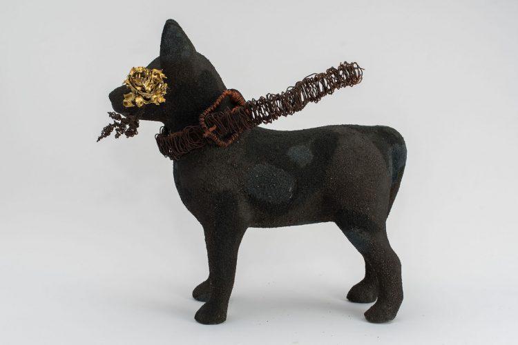 Cachorro pintado por Francisco Rosa para DogArt 2018