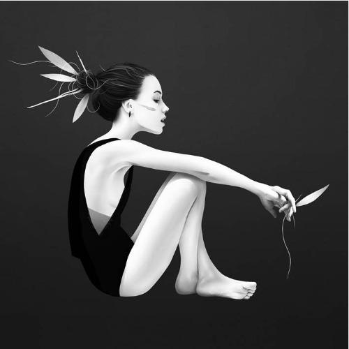 Trabalhos do ilustrador holandês Ruben Ireland,conhecido por retratar figuras sombrias e mulheres místicas de forma calma e forte.