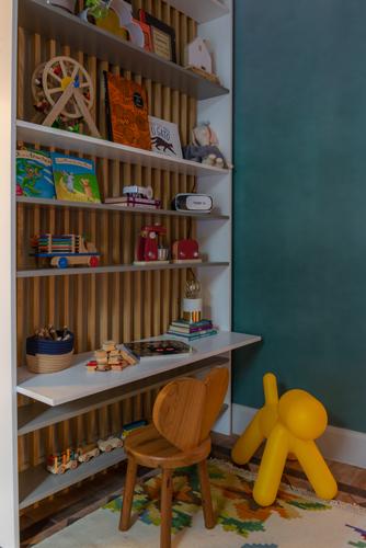 Cantinho de leitura infantil, para mostra de decoração aonde as crianças são protagonistas.