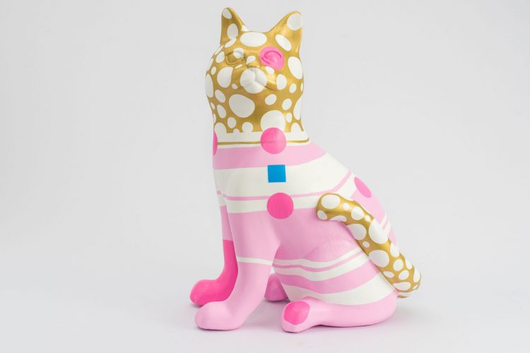Gato pintado por Adri volpi para DogArt 2018
