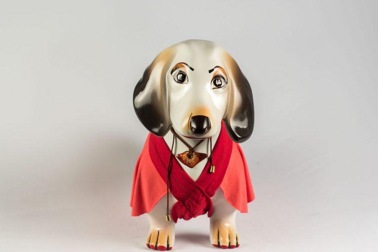 Cachorro basset pintado por Vera Viel para DogArt 2018