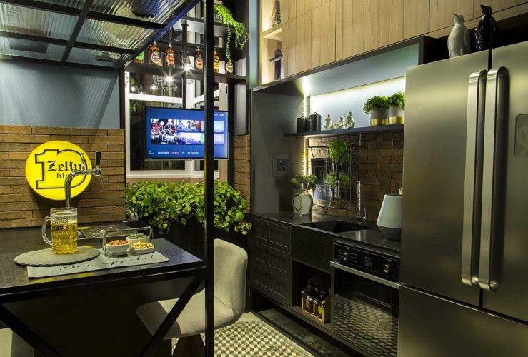 Sotão Gourmet por In9ve Design com produtos Arauco na Mostra Sul Blumenau