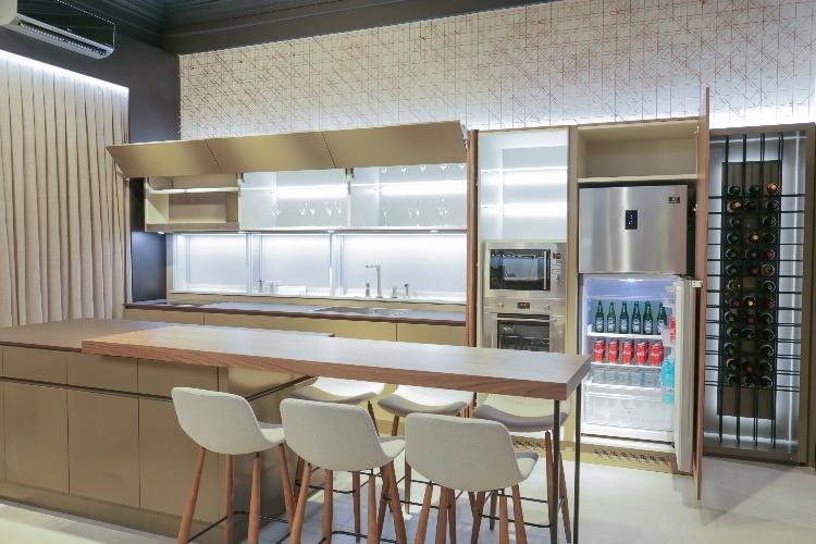 Living Gourmet de Vivacitá Interiores para Mostra Sul Blumenau