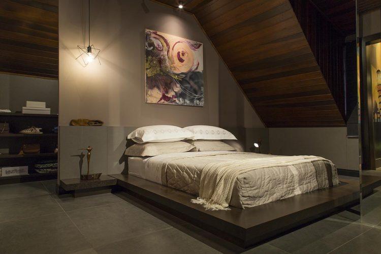 Suite do Casal Moderno por Schaffen Arquitetura para Mostra Sul Blumenau