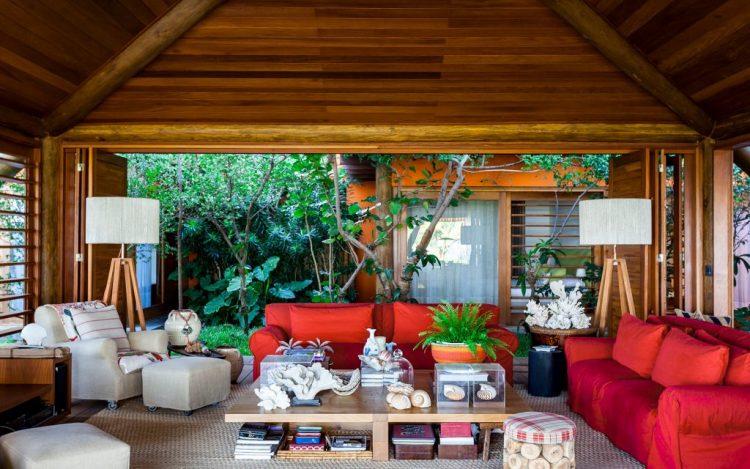 sala de david bastos com living coral