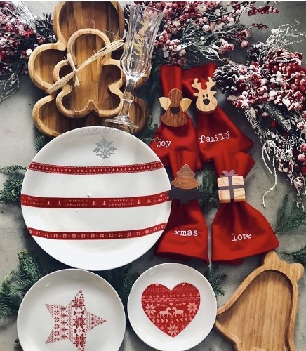 Peças para decorar a mesa de natal, louça e guardanapos. INSPIRAÇÃO E SUPER DICAS PARA A SUA MESA DE NATAL! 2018