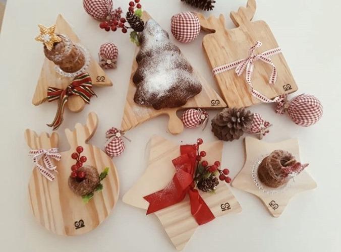 Tabuas em madeira com formato de estrela, coração e arvore da Natal. INSPIRAÇÃO E SUPER DICAS PARA A SUA MESA DE NATAL! 2018