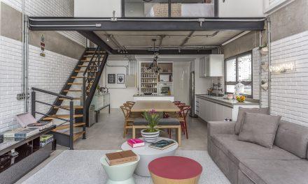 Candy Colors em loft com estilo industrial, por Korman Arquitetos