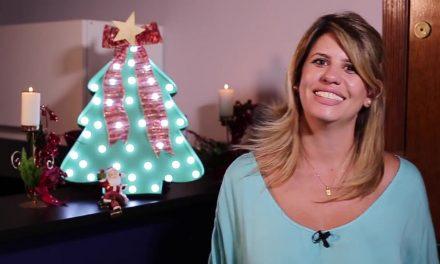 Luminaria de arvore de Natal para fazer com as criancas
