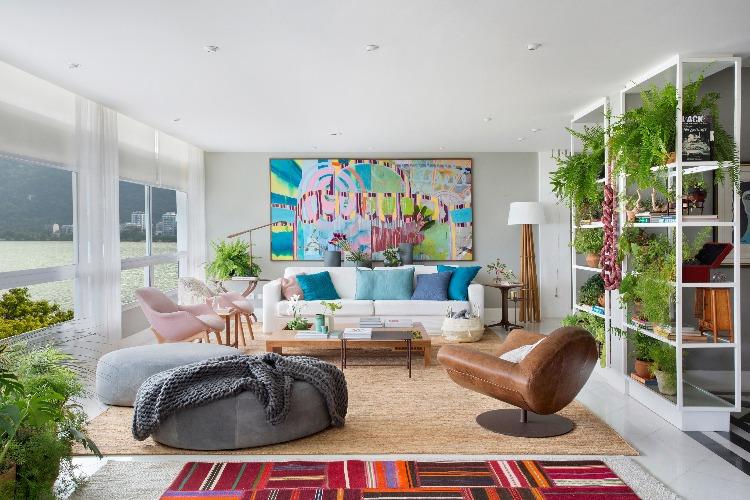 Sala do apartamento de Anna Luiza Rothier