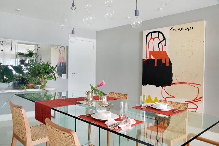 sala de jantar no apto de anna luiza rothier