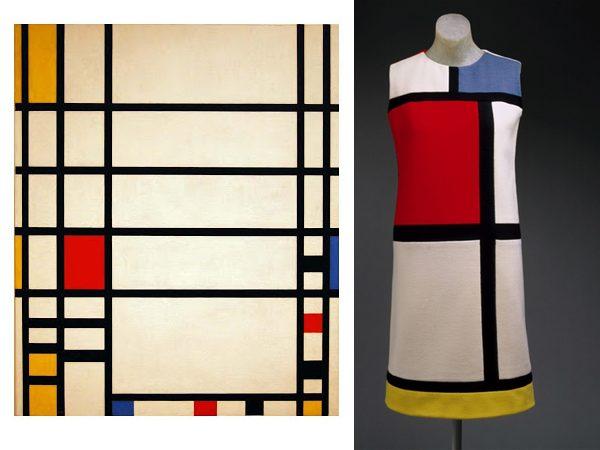 100 anos da Escola Bauhaus e 10 fatos sobre a escola mais famosa do mundo.. Vestido icônico de YSL EM HOMENAGEM A MONDRIAN