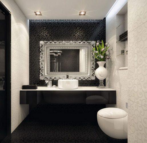 lavabo preto e branco