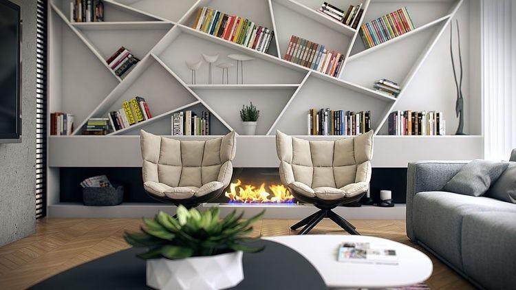 Decorando com os signos, a casa do geminiano. Estante para livros , geminiano adora ler.