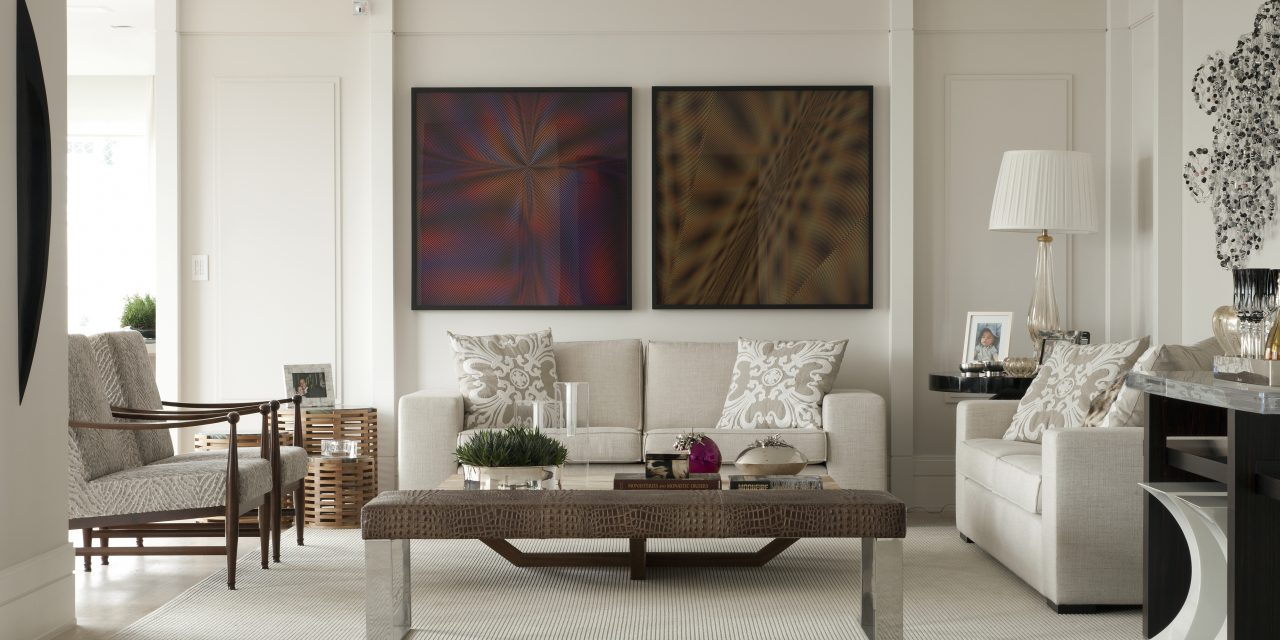 O apartamento elegante de Leonardo Junqueira
