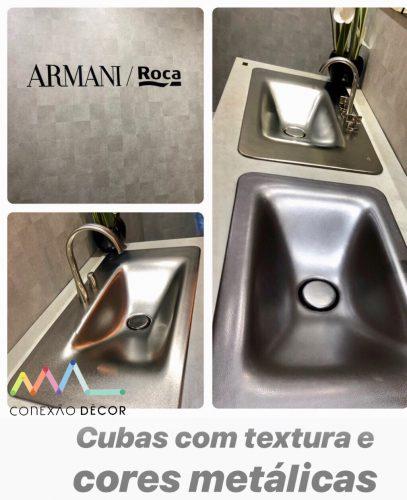 coleção Armani da Roca na Expo Revestir 2019