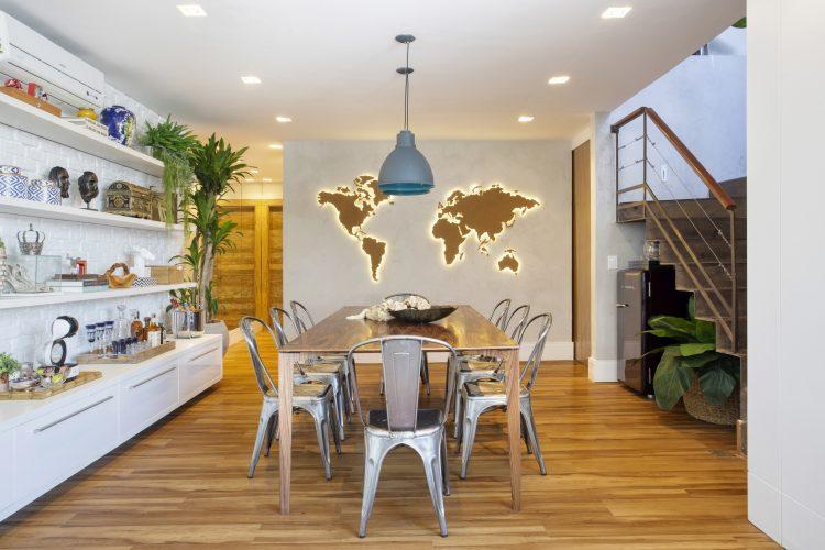 sala de jantar do apartamento de Sharon Azulay, reformada pela Troppo Arquitetura