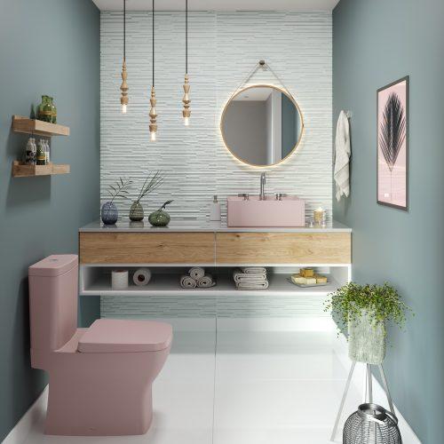 Linha Platinum Rosa da Incepa no Revestir 2019