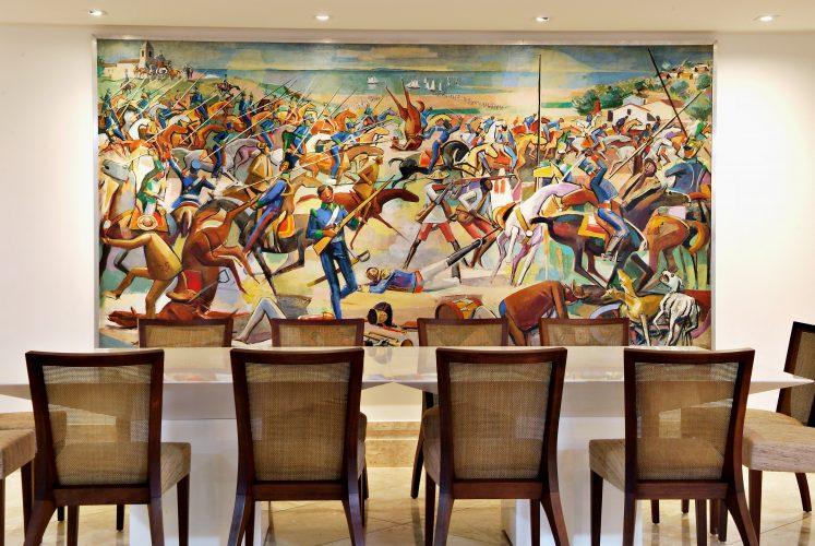 Sala de jantar assinada por Marlon Gama