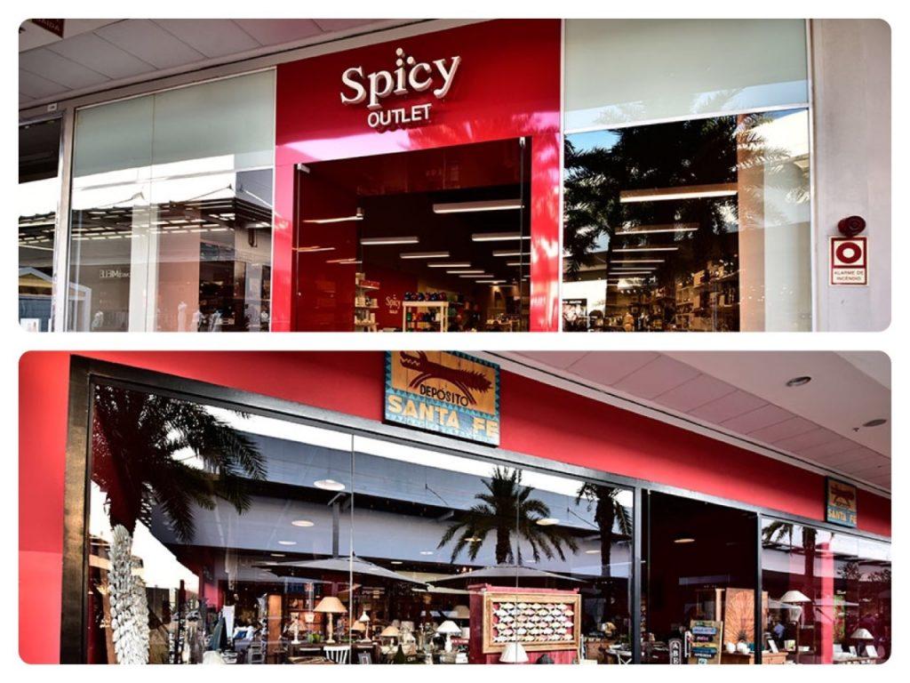 Outlets de decoração. Fachada das lojas Spicy e Deposito Santa Fé. Post no Conexão Décor