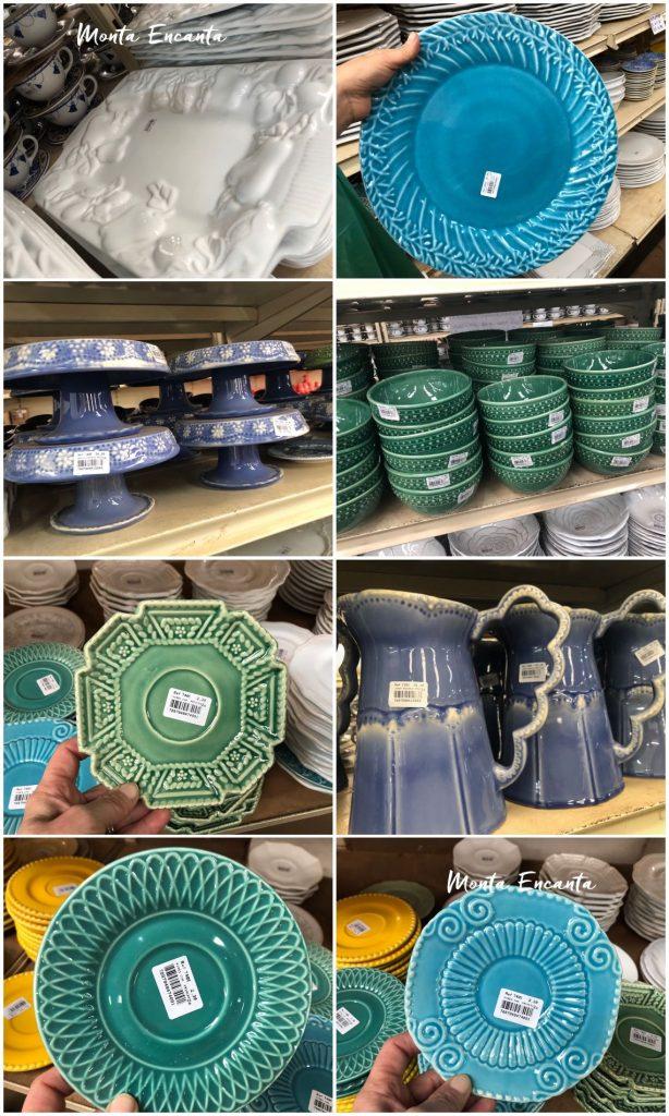 Outlets de decoração, fábrica de cerâmica Porto Ferreira.