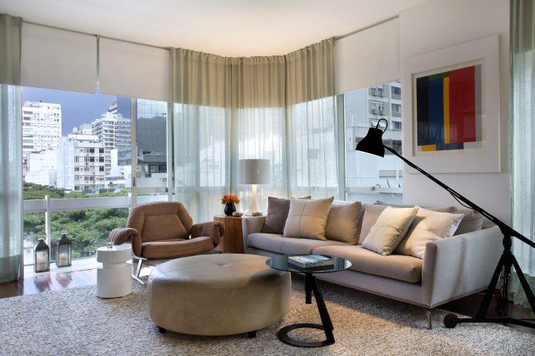 sala do Apartamento em Ipanema assinado pelas ex socias Adriana Esteves e Flavia Lucas _ foto 3