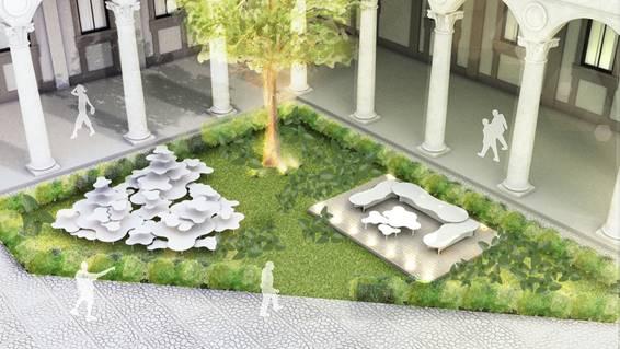 BRASIL NO I SALONE, O SALÃO INTERNACIONAL DO MÓVEL EM MILÃO 2019. Instalação da arquiteta Viviane Coser com pedras naturais