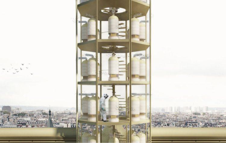 Proposta do Estudio NAB para a reconstrução da Notre Dame