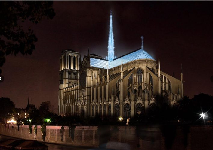proposta do Fuksas para a reconstrução da Notre Dame