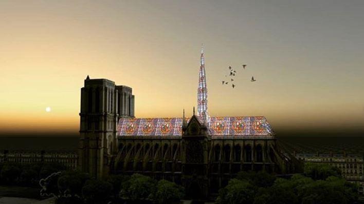 9 alternativas para a reconstrução da Catedral de Notre-Dame