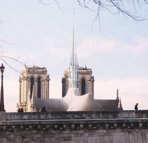 proposta de deroo para a reconstrução da Notre Dame