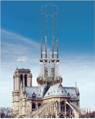 Projeto do Studio Kiss the architect para a reconstrução da Notre Dame