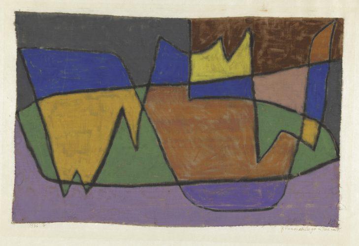 Paul Klee | Blumenanlage im Park von V., 1936, 10 | Flower Garden in the Park of V. | Canteiro de flores no parque de V. | pastel sobre algodão sobre cartão | 30,3 x 46,6 cm | Zentrum Paul Klee, Berna