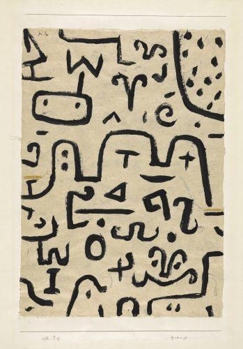Paul Klee | Grenze, 1938, 37 | Border | Fronteira | cola colorida sobre papel sobre cartão |50 x 35,4 cm | Zentrum Paul Klee