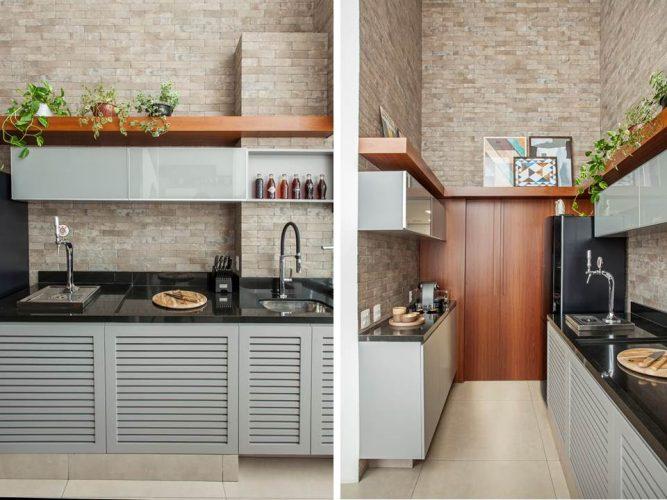 cozinha de tijolinhos de Karina Korn