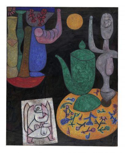Paul Klee | Ohne Titel (Letztes Stilleben), 1940 | Untitled (Last Still Life)| Sem Título (última natureza-morta) | óleo sobre tela| 100 x 80,5 cm | Zentrum Paul Klee, Berna, doação de Livia Klee